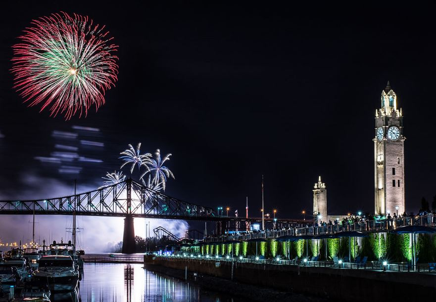montreal fireworks