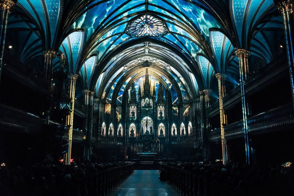 aura notre dame basilica old montreal