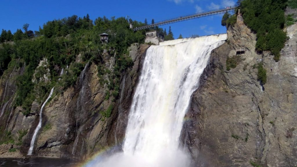 chute montmorency waterfall near quebec city