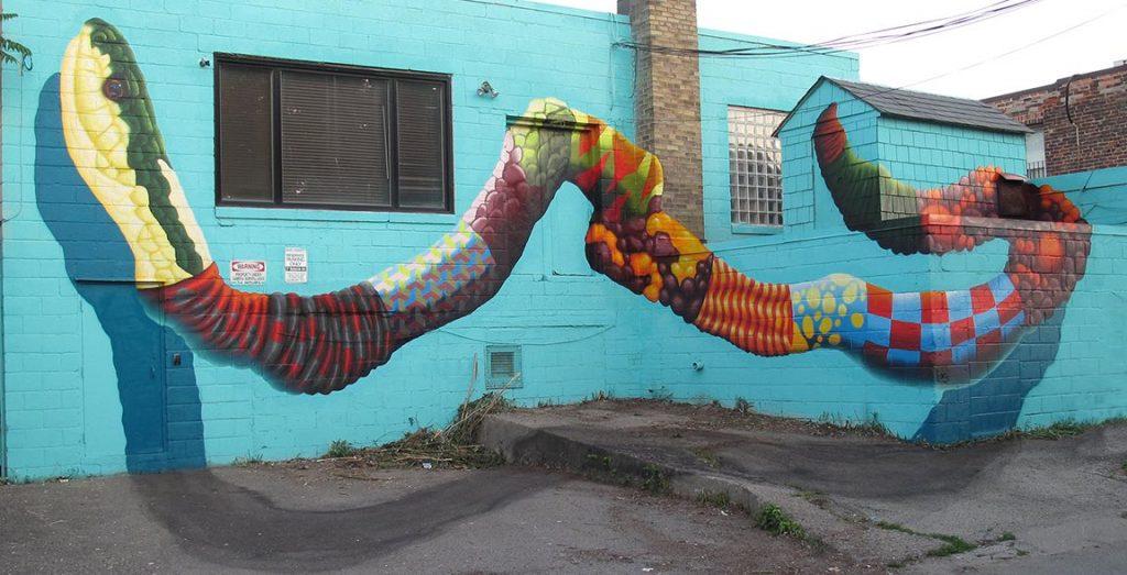 birdo garter snake mural trinity bellwoods toronto
