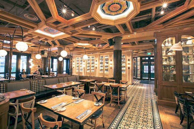 cluny bistro interior distillery district toronto