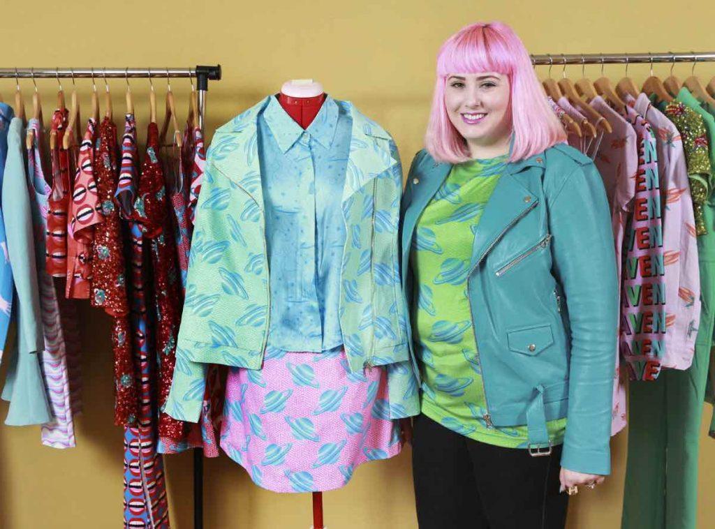 Fashion designer Hayley Elsaesser in trinity bellwoods toronto