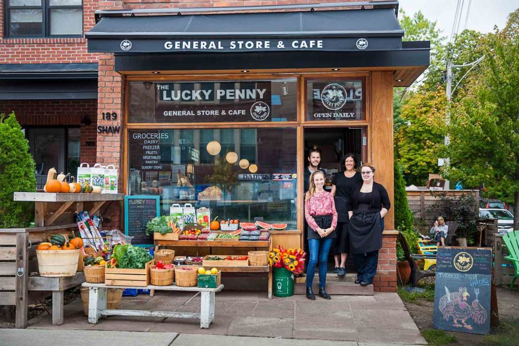 The Lucky Penny, General Store on Shaw Street north of Queen in Trinity Bellwoods Toronto