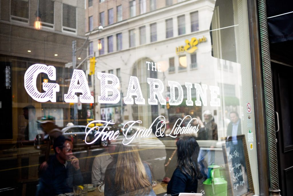 the gabardine downtown toronto restaurants