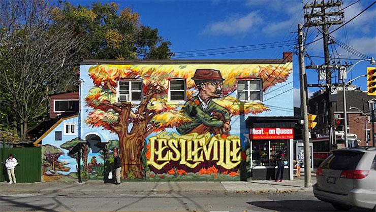 leslieville mural toronto