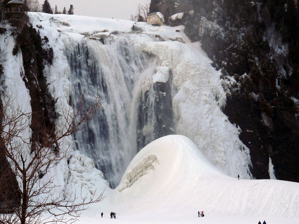 montmorency falls frozen things to do in quebec city winterà