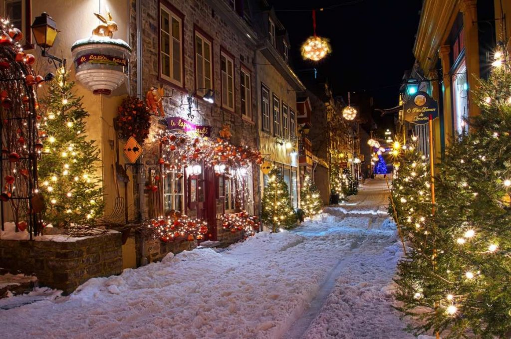 petit champlain quebec city christmas