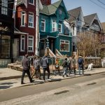 people walking on a sunny day in Kensington Market