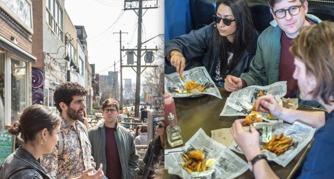 fish and chips kensington market food tour