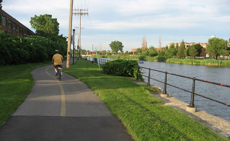 cycling along the lachine canal