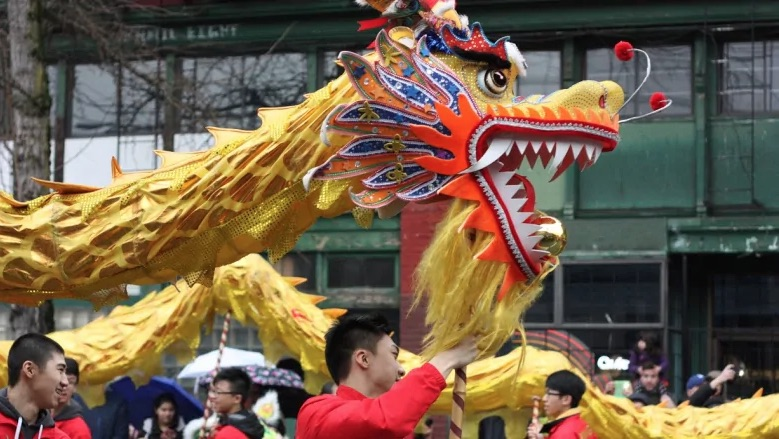 Chinese New Year celebration in Chanatown Toronto