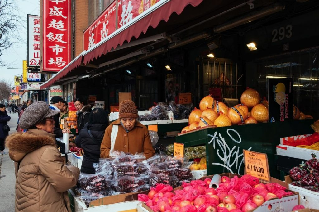Fruit store in Chinatown Toronto