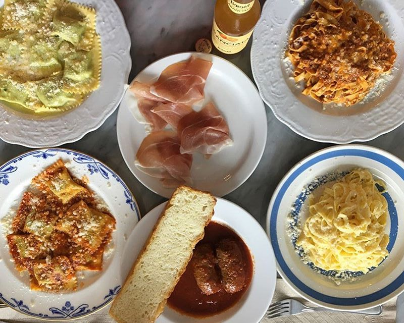 famiglia baldassarre toronto restaurants tabletop spread