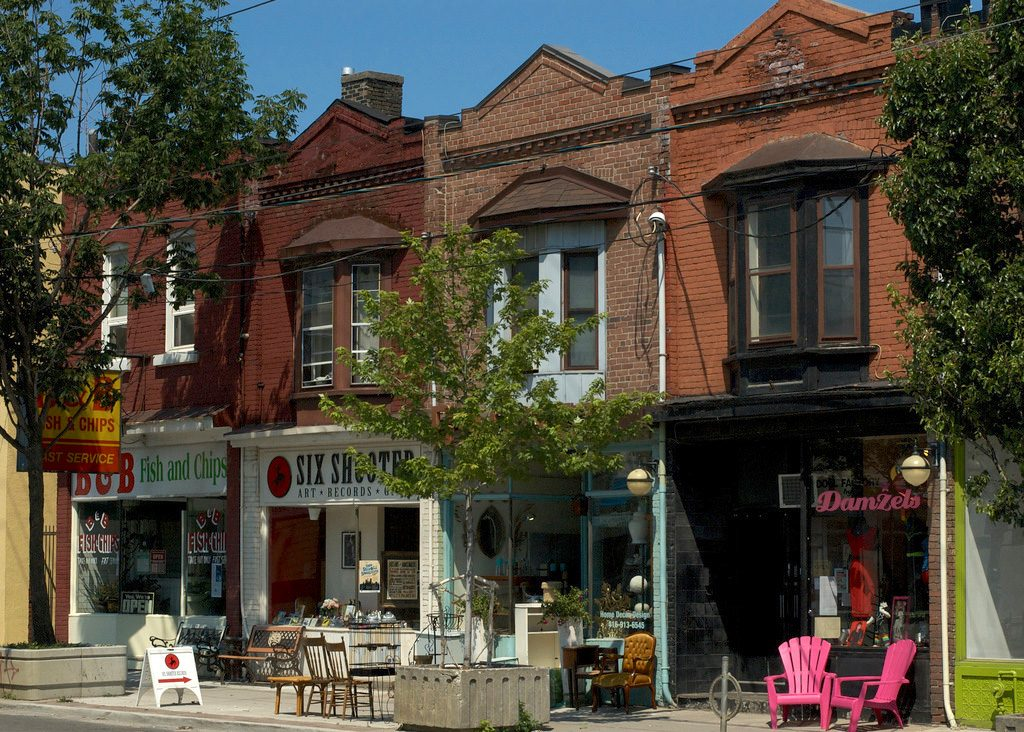 leslieville toronto storefronts