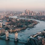 London's skyline seen from above