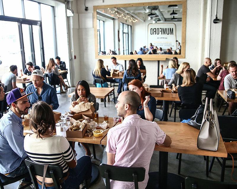 SoCal Brewbus guests at brew pub