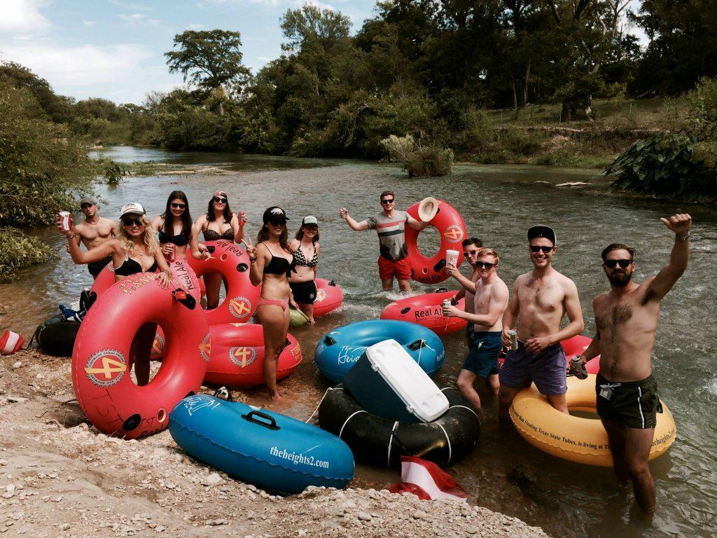 atxcursions austin river tubing tour group