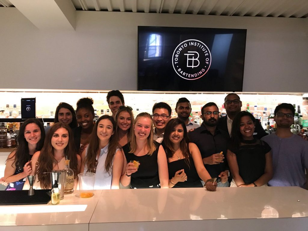 bartending classes and cocktail workshop at the bartending institute of toronto