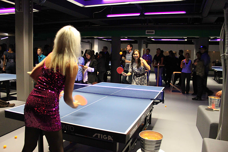 playing ping pong at spin toronto