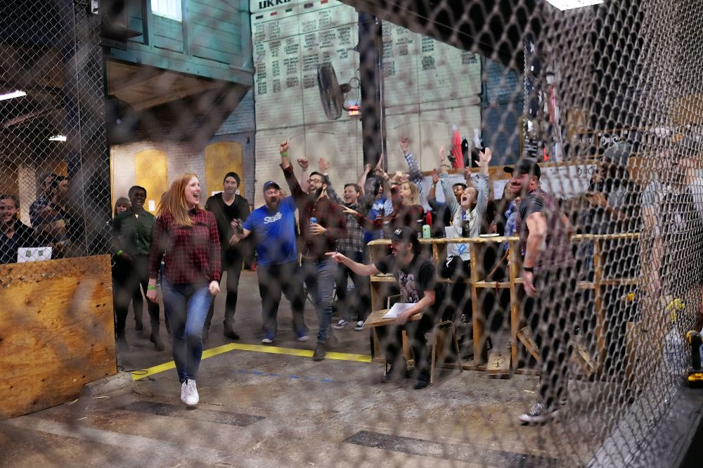 batl axe throwing corporate event